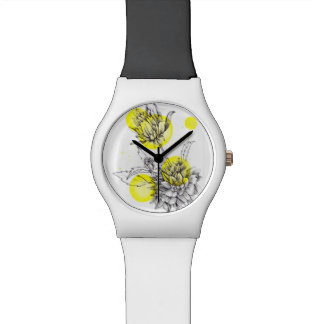 floral illustration watch