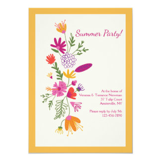Floral Impression Invitation