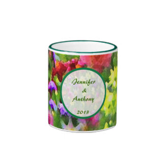 Floral Impressions Wedding Ringer Coffee Mug