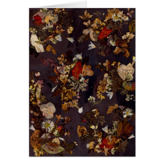 Floral In Falling Blank Greeting Card