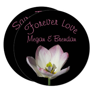 Floral In Love Save The Date Card