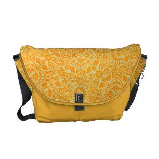 Floral in Orange and Gold Messenger Bag