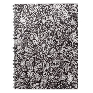 Floral Ink Print Spiral Notebook