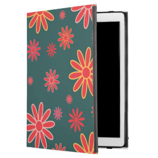 Floral iPad Case in Forrest Green