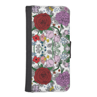 Floral iPhone 5/5s Wallet/Case iPhone SE/5/5s Wallet Case