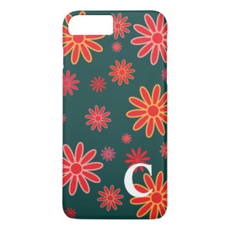 Floral Iphone 7 Case in Forrest Green
