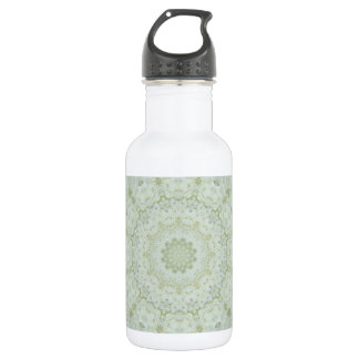 Floral Ivory ad White Rose Mandala Kaleidoscope 532 Ml Water Bottle