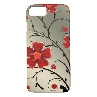 Floral Ivory red iPhone 7 Case