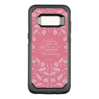 Floral Jane Austen Pride & Prejudice Bookish Quote OtterBox Commuter Samsung Galaxy S8 Case