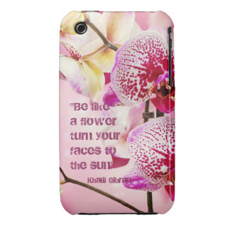 Floral Kahlil Gibran quote flowers background Case-Mate iPhone 3 Case