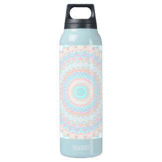 Floral Kaleidoscope 3 Insulated Water Bottle