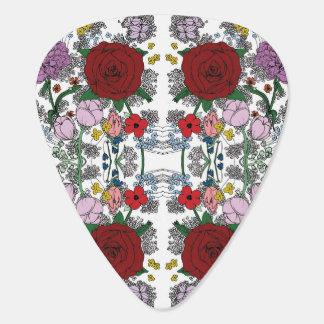 Floral Kaleidoscope Guitar Picks Guitar Pick