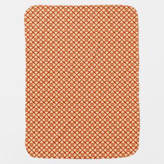 Floral kimono print, mandarin orange stroller blanket