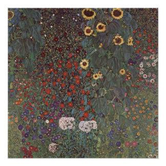 Floral Klimt Masterpiece Poster