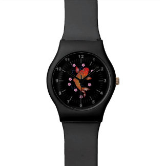 Floral Koi carp Watch