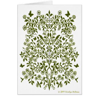 Floral Lace Damask Card