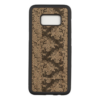 Floral Lace Samsung Galaxy S8 Slim Wood Case