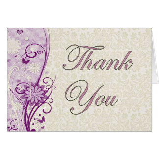 Floral & Lace Thank You Card