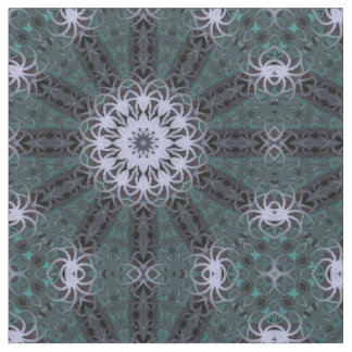 Floral & Lacy Fabric (Dark Teal)