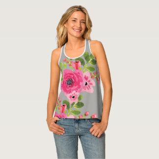 Floral Ladies Tank Tank Top
