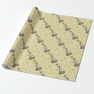Floral Lady Wrapping Paper