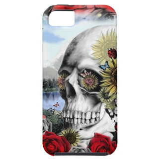 Floral landscape skull case for the iPhone 5
