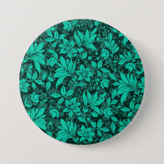 Floral Large, 3 Inch Round Button