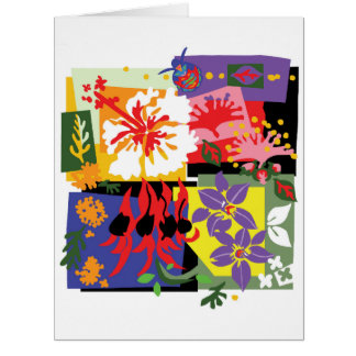 Floral - Large greeting card