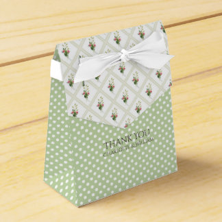 Floral Lattice and Polka Dots Favor Gift Box