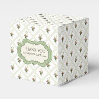 Floral Lattice Custom Favor Gift Box