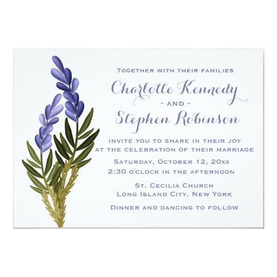 Floral Lavender Flower Purple Wedding Invitation
