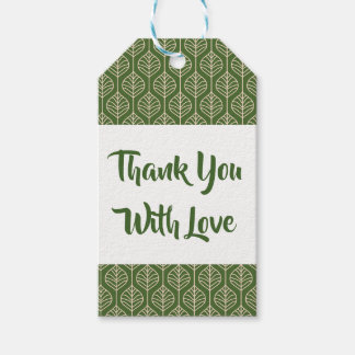 Floral Leaf  Thank You Green Leaves  Boho Wedding Gift Tags