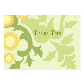 Floral leaves business card