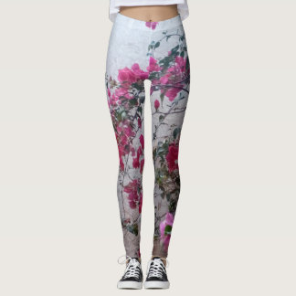 Floral Leggings by Htawq