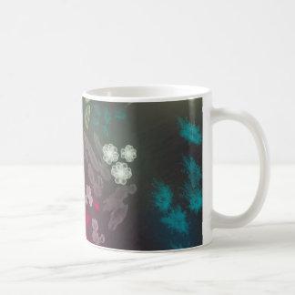 Floral life explosion - dark coffee mug