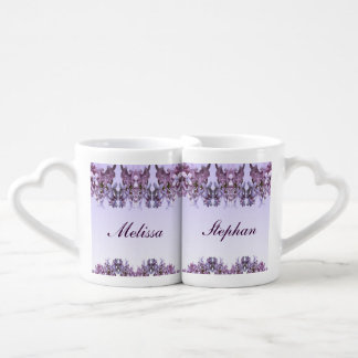 Floral Lilac Flowers Wedding Lovers Mugs