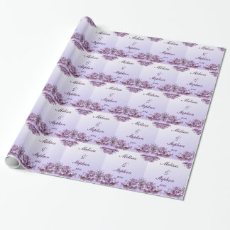 Floral Lilac Flowers Wedding Wrapping Paper
