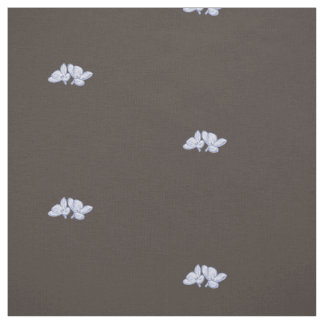 Floral lilac pattern with dark brown background fabric