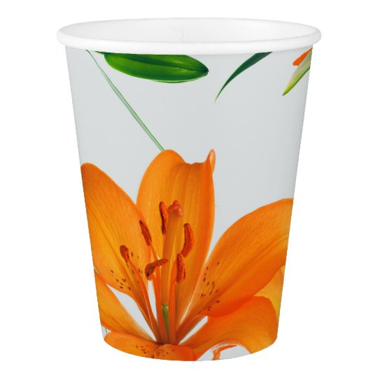 Floral Lilies Paper Cups Paper Cup