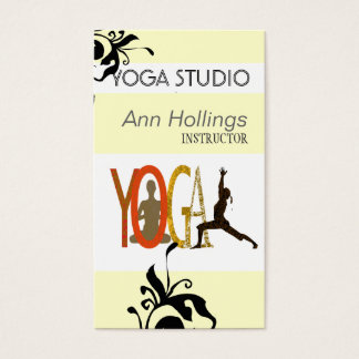 Floral Lily Yoga Design Tree Pose Business Card