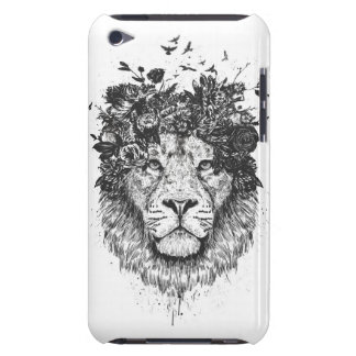 Floral lion (blackandwhite) barely there iPod cover