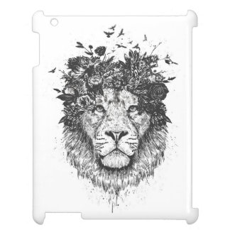 Floral lion (blackandwhite) iPad covers