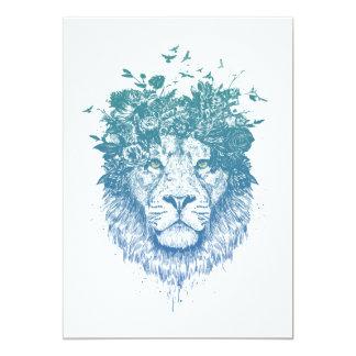 Floral lion card