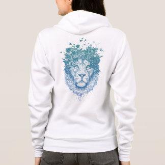 Floral lion hoodie