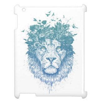 Floral lion iPad cases