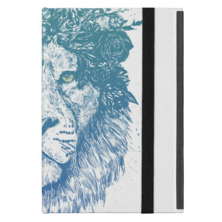 Floral lion iPad mini case