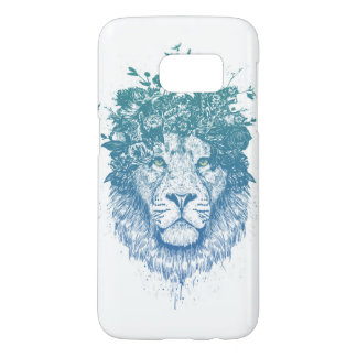 Floral lion samsung galaxy s7 case