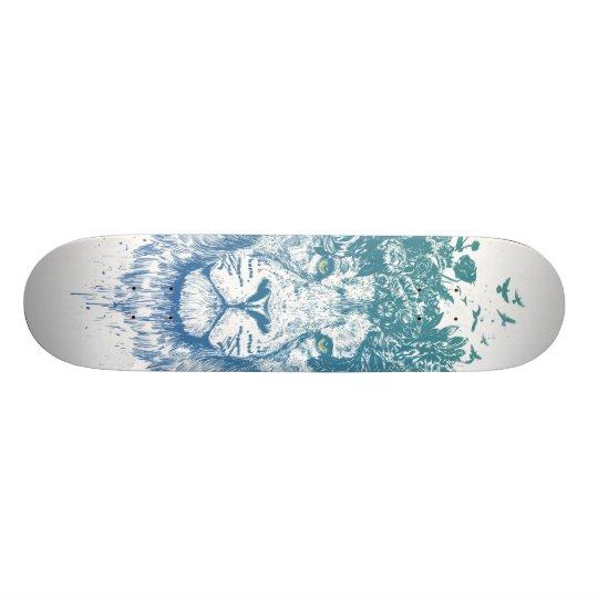 Floral lion skate boards