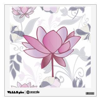Floral lotus pattern wall sticker