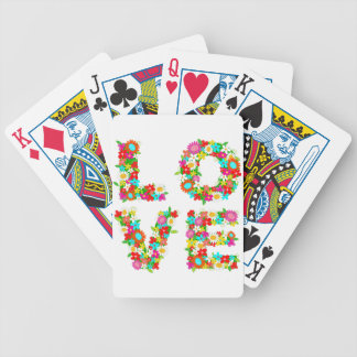 floral love bicycle playing cards